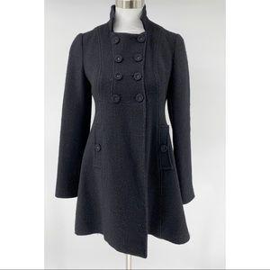 Rebecca Taylor Military Coat Jacket Peacoat